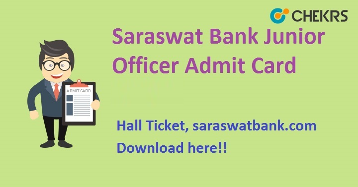 Saraswat Bank Junior Officer Admit Card