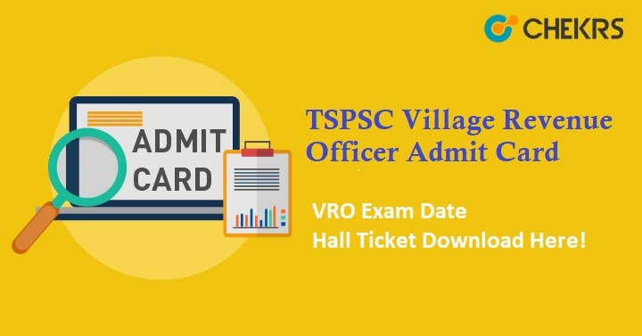 TSPSC Village Revenue Officer Admit Card