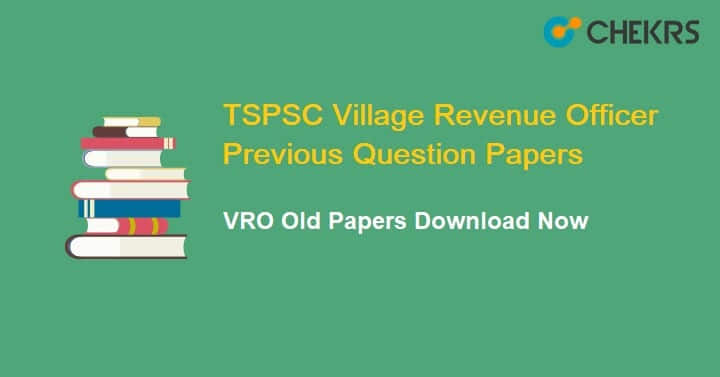 TSPSC Village Revenue Officer Previous Papers