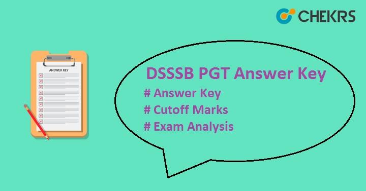 DSSSB PGT Answer Key 2019
