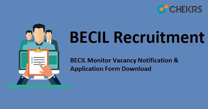 BECIL Monitor Vacancy Notification