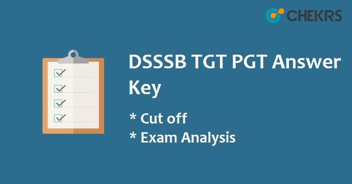 DSSSB TGT Answer Key 2021