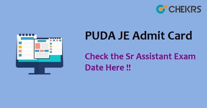 Punjab PUDA JE Admit Card 2021