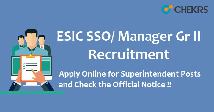ESIC SSO Recruitment 2021