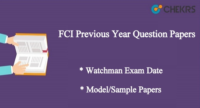 FCI Previous Year Question Papers