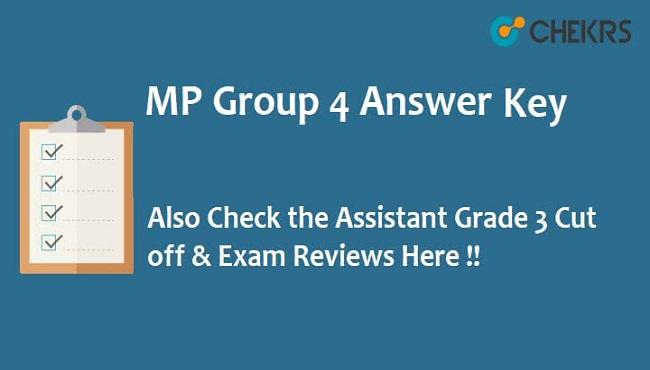 MPPEB Group 4 Answer Key