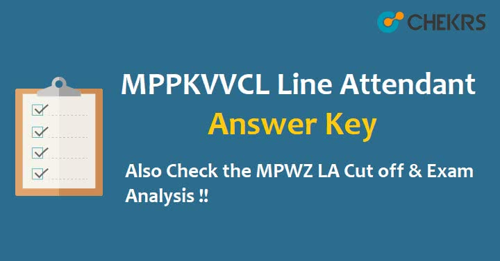 MPPKVVCL Jabalpur Line Attendant Answer Key 2021