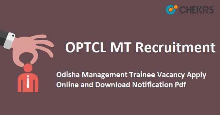OPTCL MT Recruitment