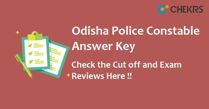 Odisha Police Constable Answer Key 2021