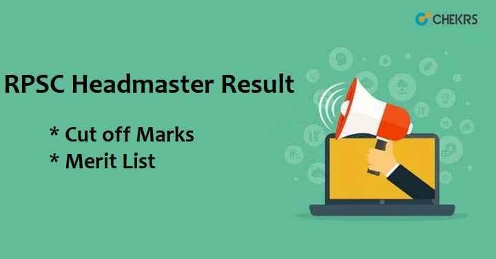 RPSC Headmaster Result 2021