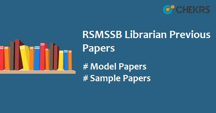 RSMSSB Librarian Grade 3 Question Papers