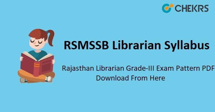 RSMSSB Librarian Grade 3 Syllabus