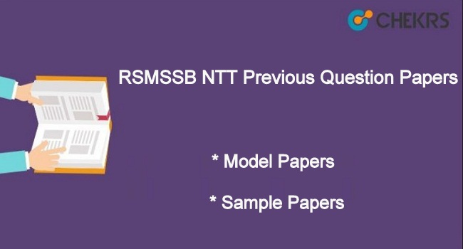 RSMSSB NTT Previous Year Question Paper