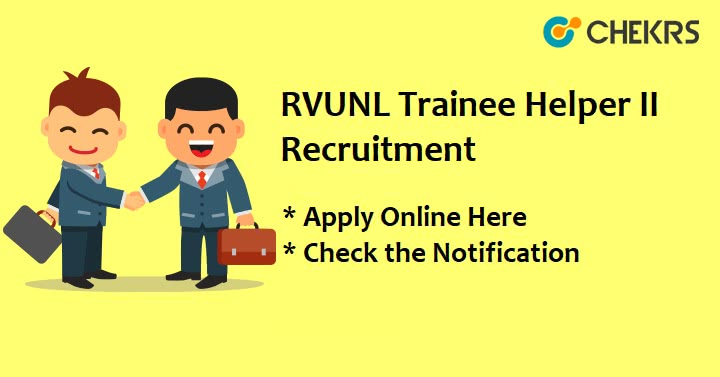 RVUNL Trainee Helper Recruitment
