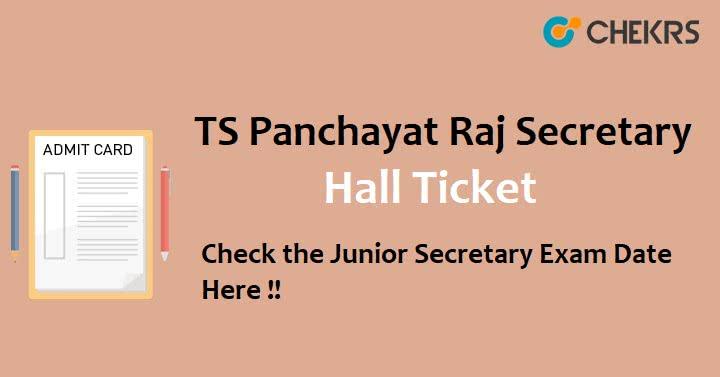 TS Junior Panchayat Secretary Hall Ticket