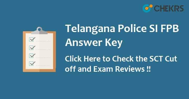 Telangana Police SI Answer Key 2020