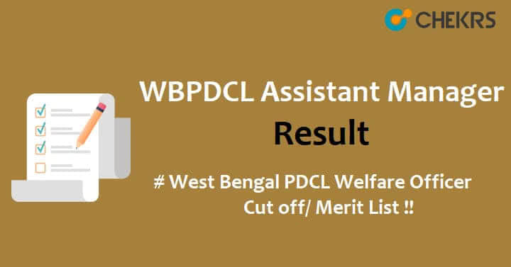 WBPDCL Welfare Officer Result