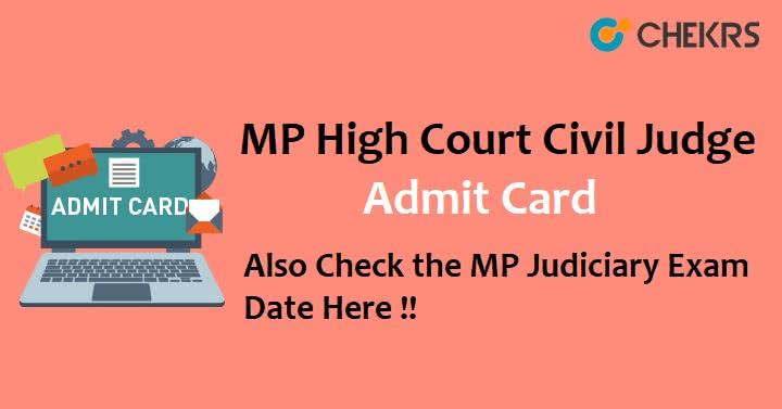 MP Civil Judge Class 2 Admit Card