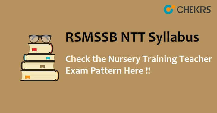 RSMSSB Nursery Training Teacher Exam Pattern