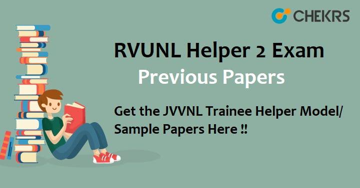 RVUNL Trainee Helper II Question Papers