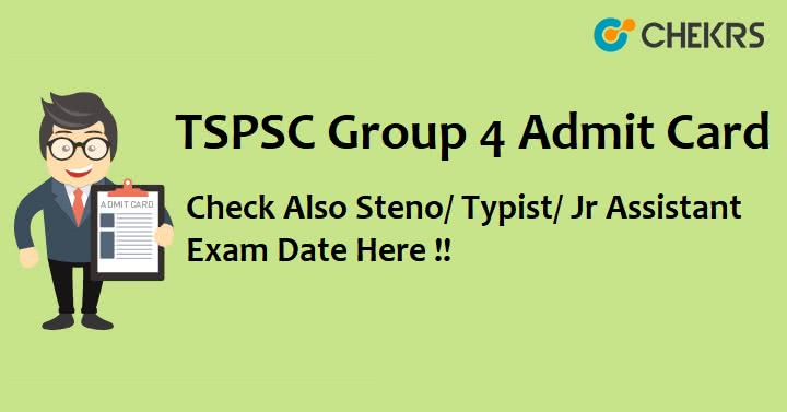 TSPSC Group 4 Admit Card Download