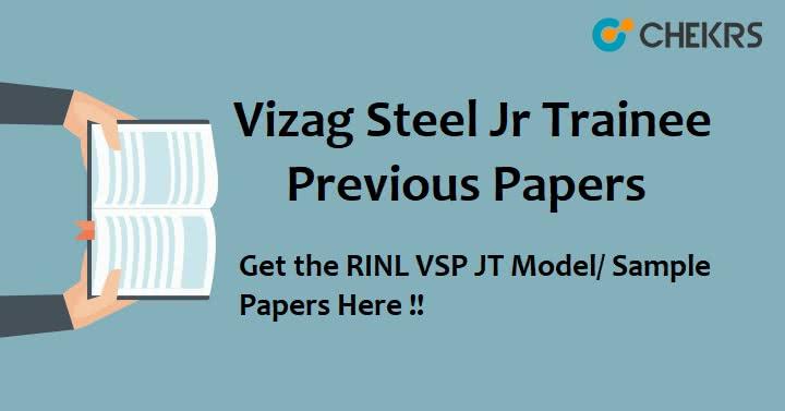 Vizag Steel Plant JT Previous Question Papers Pdf