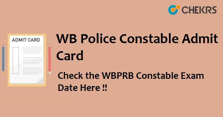 WBP Constable Exam Admit Card