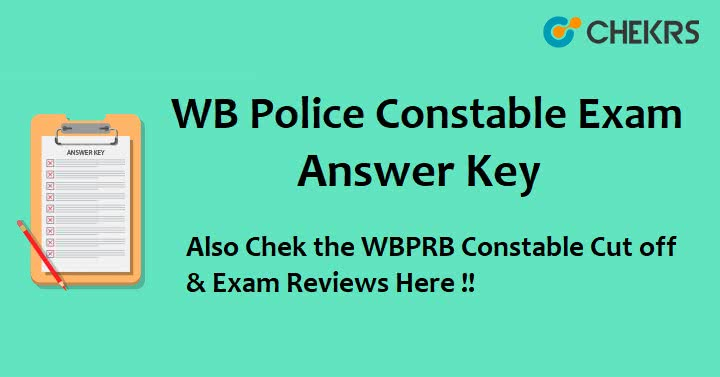WBP Police Constable Exam Answer Key