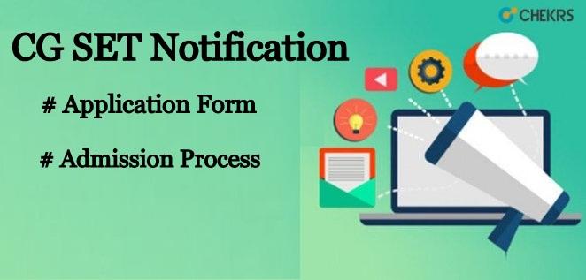 CG SET 2020 Notification