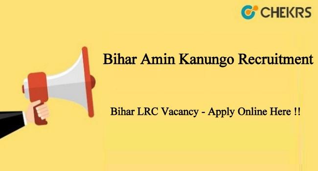 Bihar Amin Kanungo Recruitment