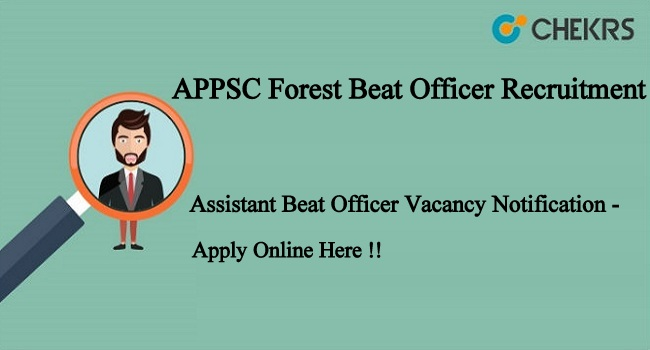 APPSC Forest Beat Officer Recruitment