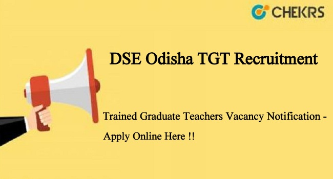 DSE Odisha TGT Recruitment