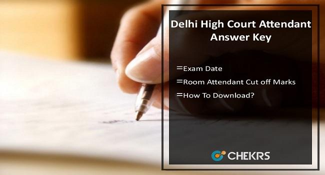 Delhi High Court Attendant Answer Key
