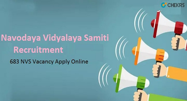 Navodaya Vidyalaya Samiti Recruitment 2021