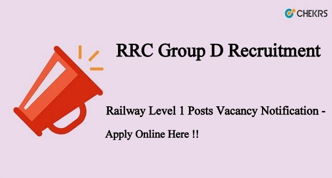 RRC Group D Recruitment 2021