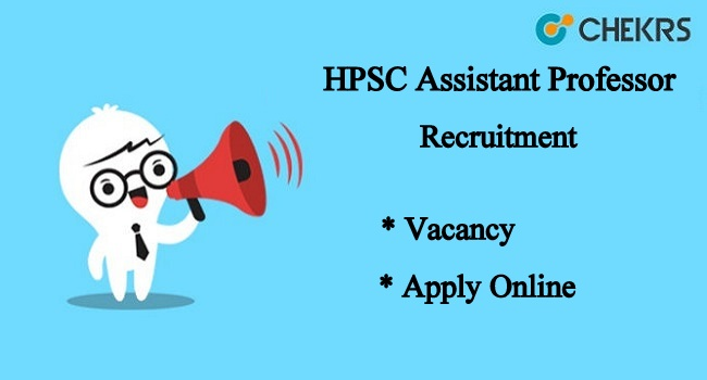 HPSC Asst Professor Apply Online