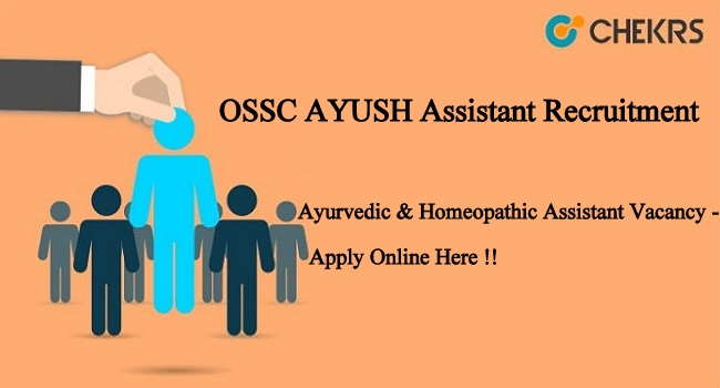 OSSC AYUSH Assistant Apply Online